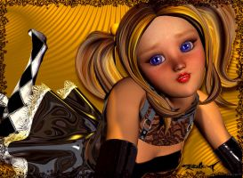 Blonds have more fun. by akulla3D