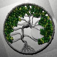Tree of Life in Greens pendant by craftymama