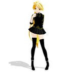 [MMD Newcomer] Lat Formal Yellow by SapphireRose-chan