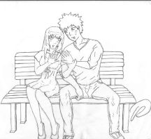 naruhina- hands lineart by Animepandafreak