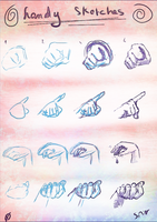 Hands sketches with steps :D by spinoza1996