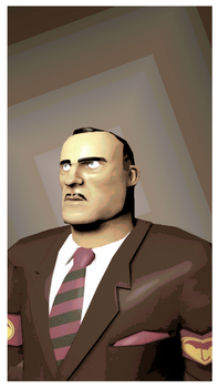 TF2 Portrait The other civilian by Soldierino