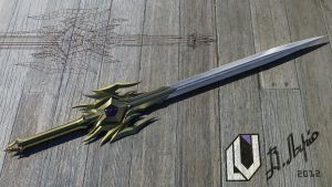 A sword ''Grom'' (possible mod for Skyrim) by Lanstream