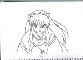 InuYasha Uncolored by: azi91 by YoukiClub