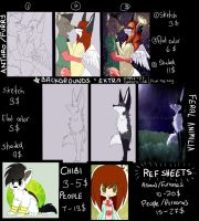 Commission Prices 2013 by coffaefox