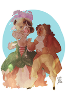 Marie Antoinette and Louis XVI by NerinaSam