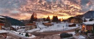 Oostenrijk Sunset Panorama HDR by Anvh