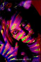 . neon neko . by Countess-Grotesque