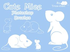 Cute Mice Photoshop Brushes by Trinamon