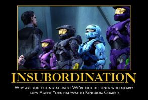 Red vs Blue Insubordination by NoctusInfinity