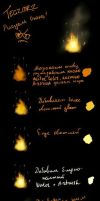 Russian Tutorial: How to draw fire by Egenysh