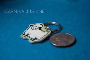 """""""I love ewe""""keychains FOR SALE by carnivalfish"""