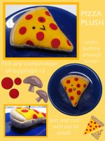 Pizza Plush by MONSTERCreations
