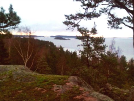 Hazy Evening In The Archipelago October 24st  by eskile