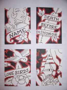 Tattoo Art Trading Cards by attemptanything