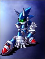 Mecha sonic redesign by zeiram0034