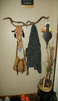Back to my roots, coat hanger by AtFirstPlush