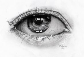 Ojo hecho a Grafito | Eye made with Graphite by Faleru