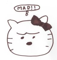 Hello Kitty looks mad by dth1971