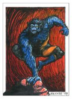 The Beast - Sketchy SketchCard by HalHefnerART