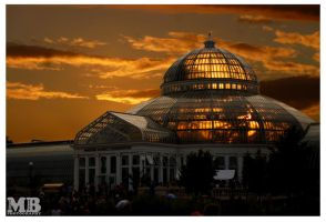 Sun Set on Como Conservatory by Dj-Bostan
