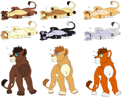 Lion Adoptables - CLOSED by sjsaberfan