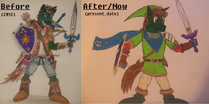 Pony OC - Andrew Linkforce: before and after by spyaroundhere35
