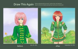 Draw Again - Girl in Green by Liliaje