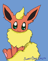Kawaii Flareon by SweetBeriiChu
