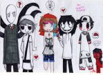 My cute and creepy family by darklugia99