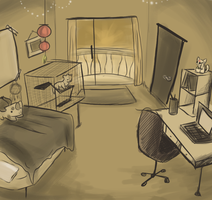 Leilani's apartment room by SpunkyRacoon
