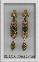 Copper Byzantine Earrings by SLiCkDesigns