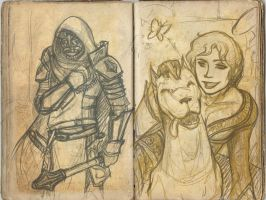 Free sketches 3-4 by Cerviero