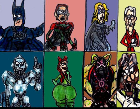 Batman and Robin 1997 Characters by SonicClone