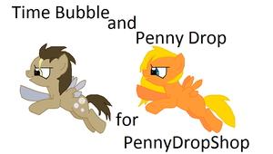 Time Bubble and Penny Drop for PennyDropShop by woofwoofsg1