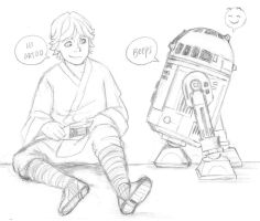 Star Wars -  Luke and Artoo by KatyTorres