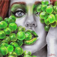 OMG Grapes by ArtByBryanna