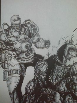 cable vs carnage by artkid01