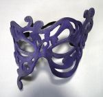 Purple Jasmine handmade leather mask by Shadows-Ink