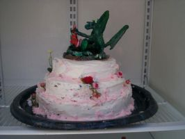 Dragon and Rabbit Wedding Cake by Tresity