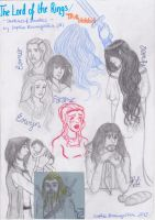 LOTR - Sketches and some Doodling by SquigglyButterfly
