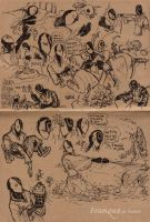 Franque action sketches 2 + 3 by PsychedelicMind