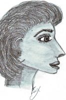 Lady In Profile Scetch by brokenrose80