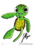 Squirt Illustration for World Turtle Day by JRLunaArt
