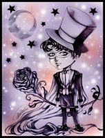 Tuxedo Mask Chibi :lineart: by Giname