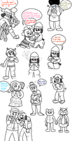 Parappa the Rapper Doodle Dump by Madd-D
