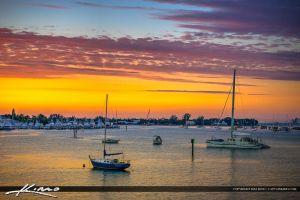 Sailboats-Anchored-at-West-Palm-Beach-Sunrise-Colo by CaptainKimo