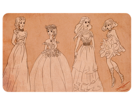 dress designs by wickedevilbunny