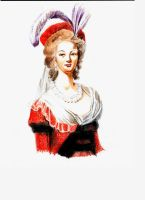 Marie Antoinette, Red Dress by Smileyrunner