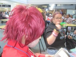 Gaara at A-kon 21's Food Court by alexpharoa
